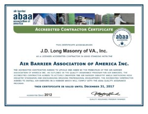 ABAA Accredited Contractor Certificate